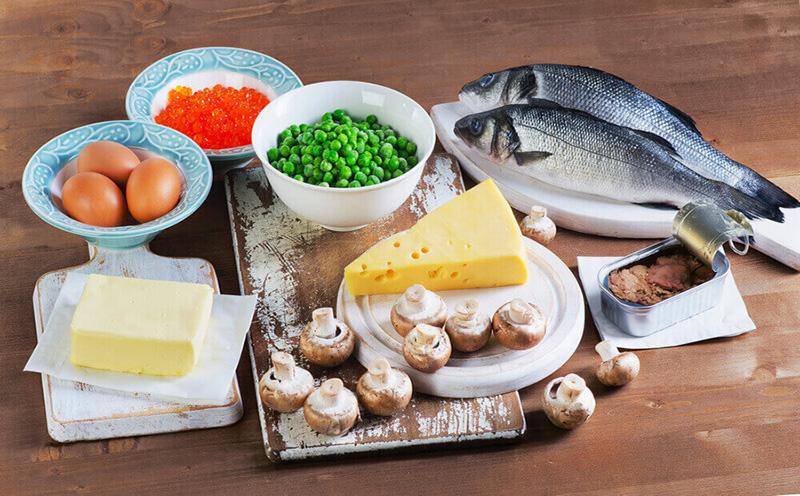 منابع غذایی دارای ویتامین D