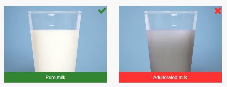 تشخیص وجود نشاسته در شیر