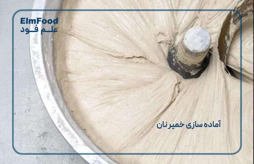 آماده سازی خمیر نان در تولید نان صنعتی