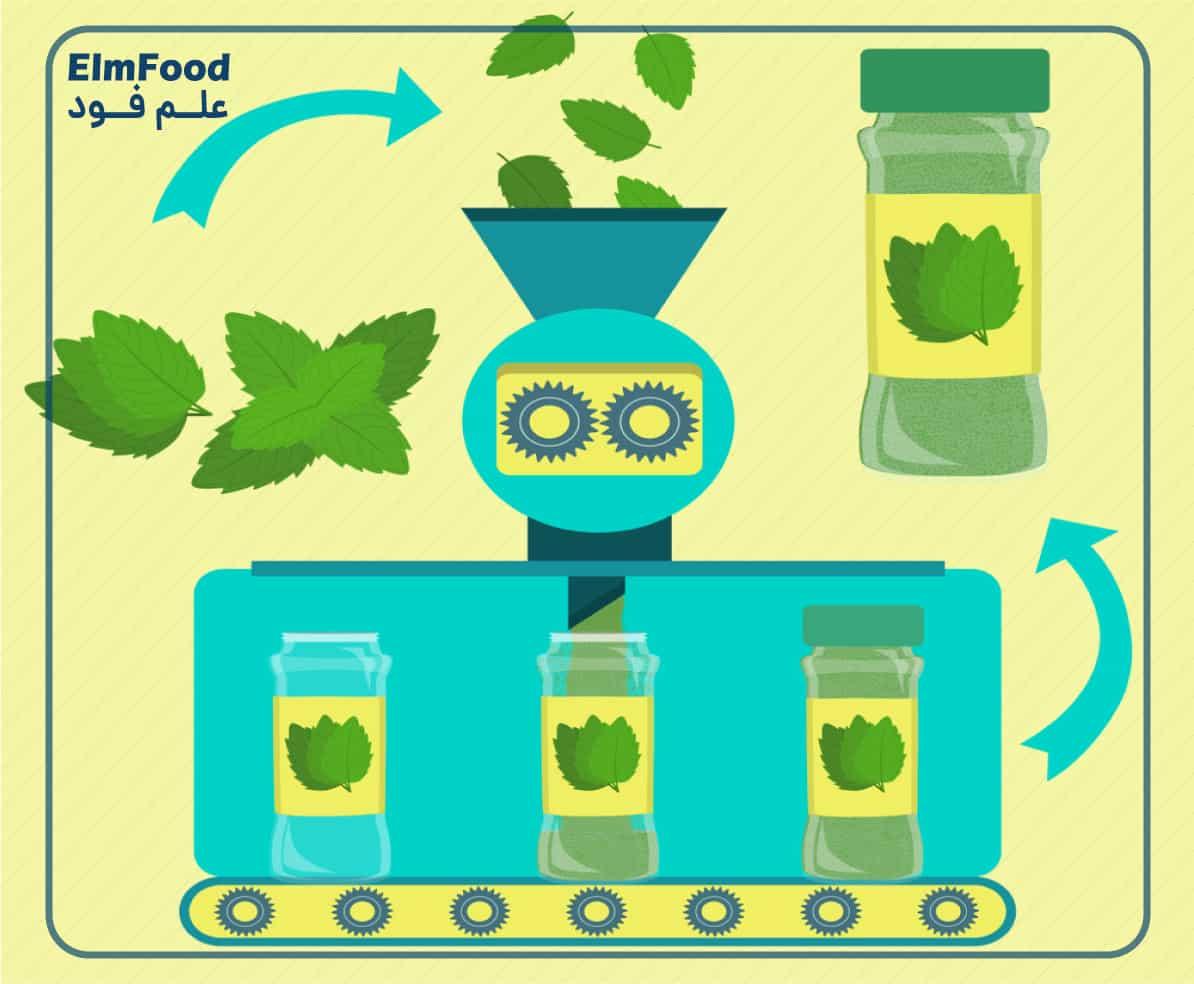 مراحل تولید سبزی خشک صنعتی