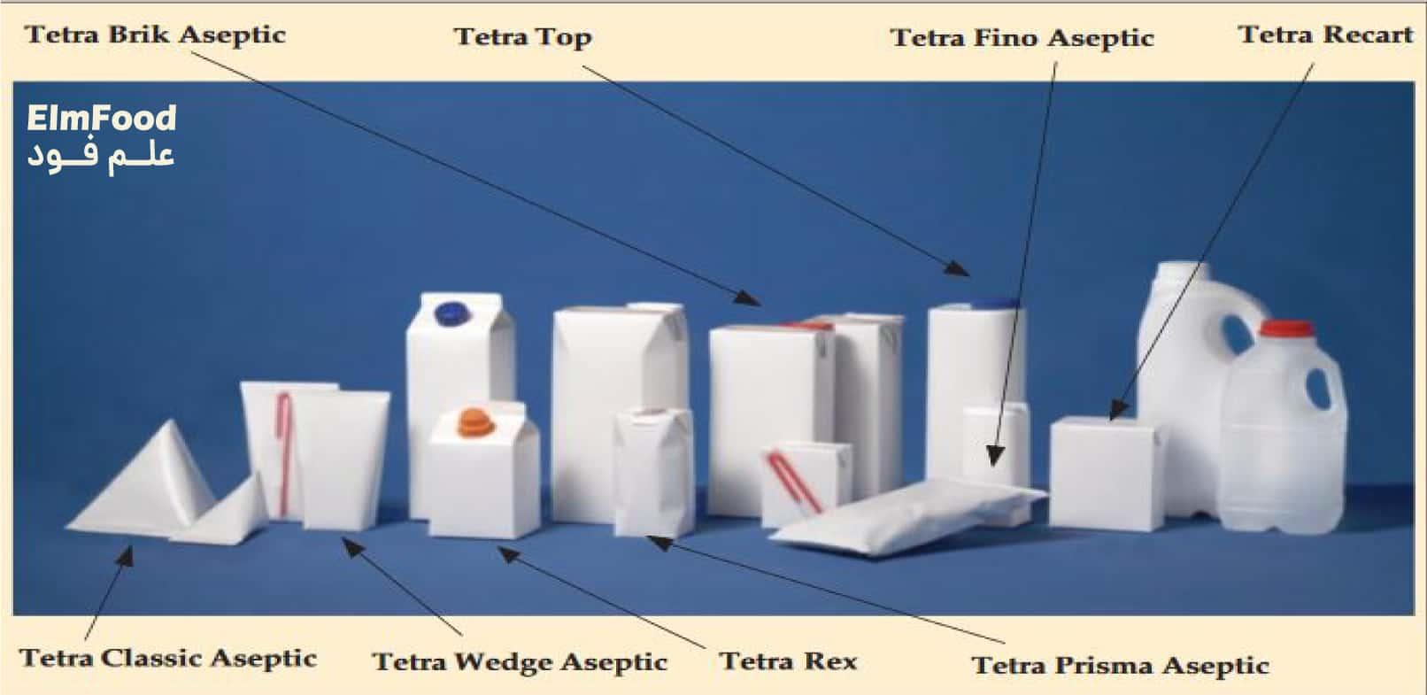 انواع بسته بندی اسپتیک مواد غذایی