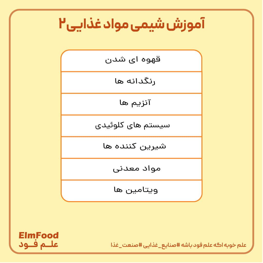 آموزش شیمی مواد غذایی2